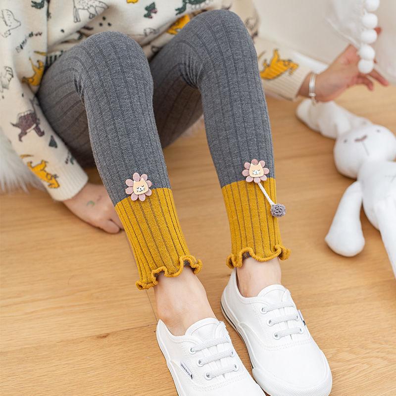 【不加绒/加绒】女童打底裤秋冬季外穿修身加绒保暖中大儿童裤子