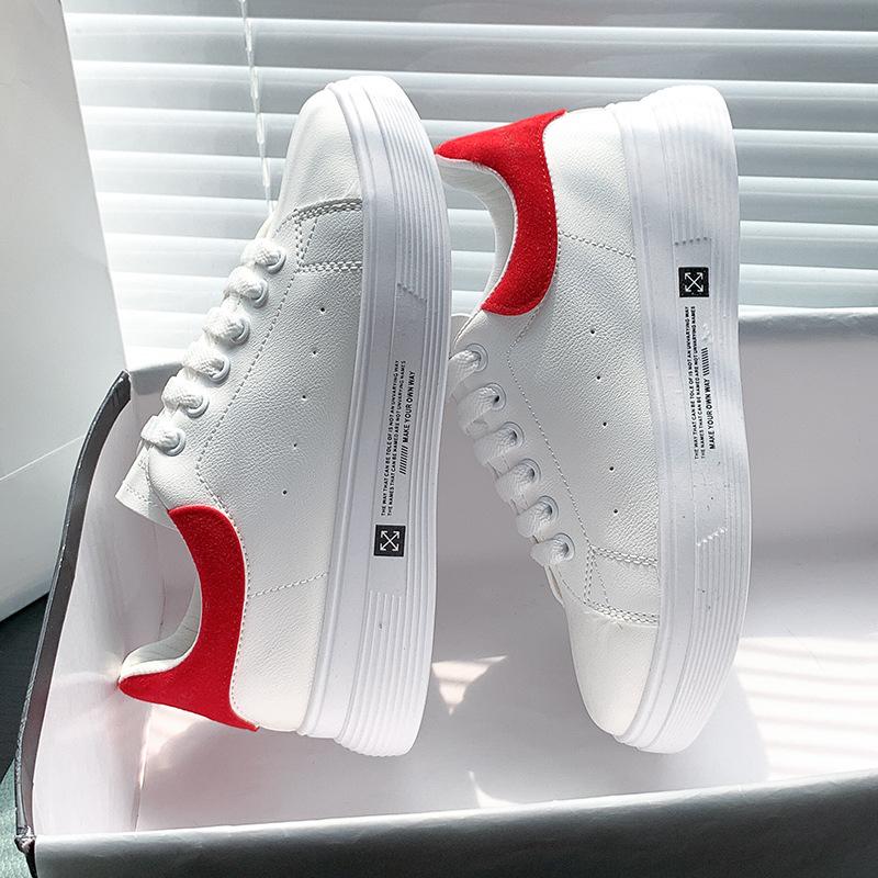 小白鞋子女2020秋季新款松糕厚底透气增高ins显瘦运动女鞋子