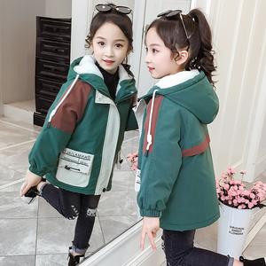 女童风衣儿童外套中长款2020新款网红秋装外衣韩版洋气加绒加厚冬
