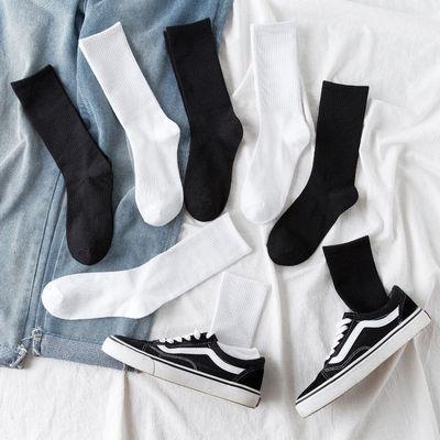 袜子女韩版中筒袜男长袜子防臭篮球袜春夏长筒堆堆袜学生潮流