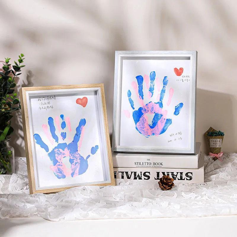 diy情侣手印相框生日礼物送男女朋友儿童百天纪念毕业情人节礼物