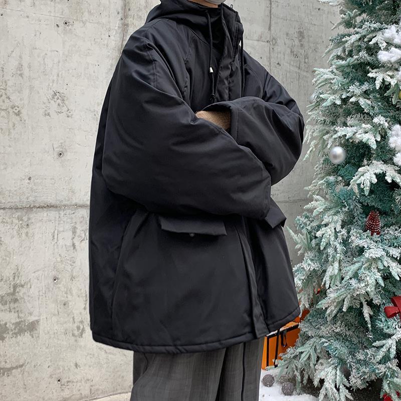棉服【男冬季加厚潮牌ins棉衣2020新款连帽工装外套韩版潮流棉袄