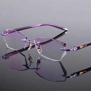 【可配度数】无框眼镜架超轻变色