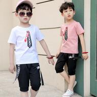 Chàng trai mùa hè phù hợp với 2018 trẻ em mới ngắn tay cậu bé mùa hè trẻ em mặc trẻ em lớn Hàn Quốc phiên bản của thủy triều phù hợp với hai mảnh
