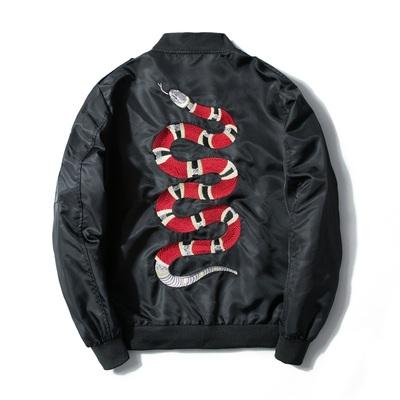 Thêu áo khoác nam Harajuku Yokosuka hoa Nhật Bản san hô rắn triều thương hiệu vài đồng phục bóng chày bay áo khoác nam áo khoác