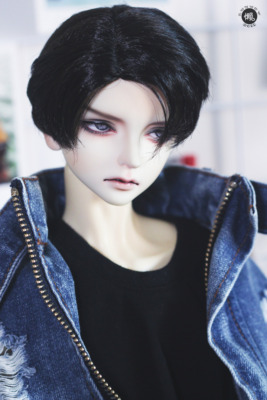 taobao agent Lazy baby bjd doll wig SD 3 4 6 points uncle dragon soul side point idol milk silk short hair daily fake hair