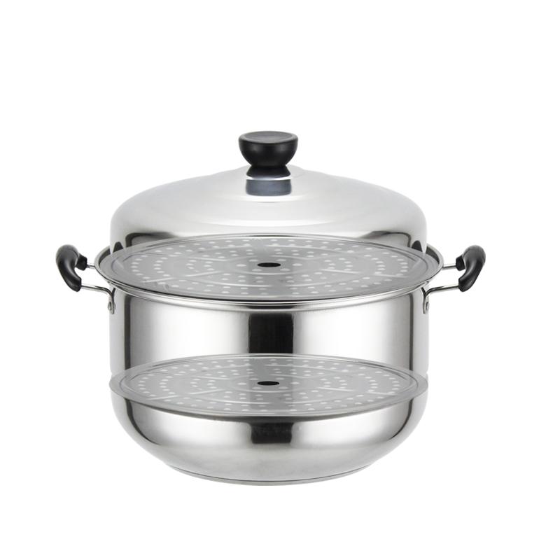 蒸锅3多层2不锈钢4三四层馒头包子加厚电磁炉家用复底汤锅蒸笼