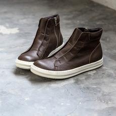 欧美复古牛皮靴子 男 马丁靴 厚底短靴 秋冬 A149-X11-185