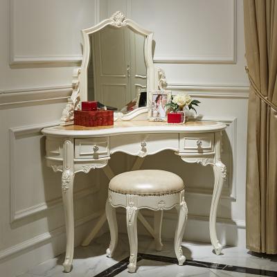 上止正家具 欧式卧室简约实木大转角梳妆台 法式