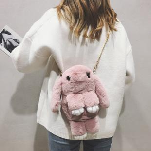 【可爱百搭】纯色毛毛兔小包包