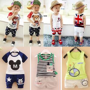 Cậu bé bé sữa chua rào cản vest baby boy quần áo trẻ em cotton mùa hè 2018 mới phù hợp với mùa hè phần mỏng