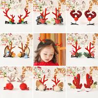 Рождественские Брелки Шпилька детские Рождественский олень рога шпилька женская симпатичный лось клип на девочку Аксессуары для волос