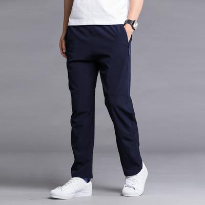 Thể thao mùa hè quần nam quần polyester lớp duy nhất khô nhanh chóng quần băng lụa phần mỏng thẳng lỏng quần của nam giới thoáng khí chạy
