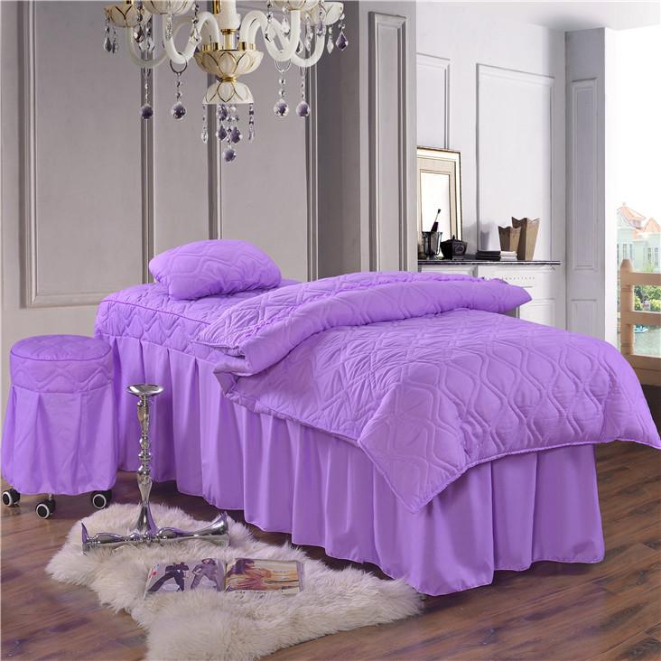 Màu sắc tinh khiết vẻ đẹp giường bao gồm bốn bộ thẩm mỹ viện cơ thể massage giường bao gồm đặc biệt cung cấp vận chuyển kích thước có thể được tùy chỉnh