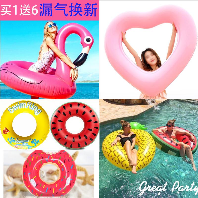 Bơi vòng để phóng to người lớn ban đầu vòng tròn bơi dưa hấu dứa donut dày nước dưới vòng inflatable phao cứu sinh