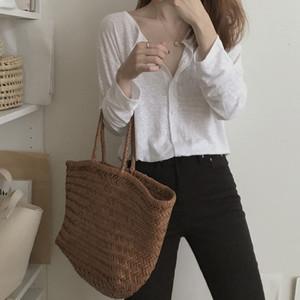 2391#韩国 早秋新款 轻薄舒适单排扣小外套防晒衫开衫 2色 现货