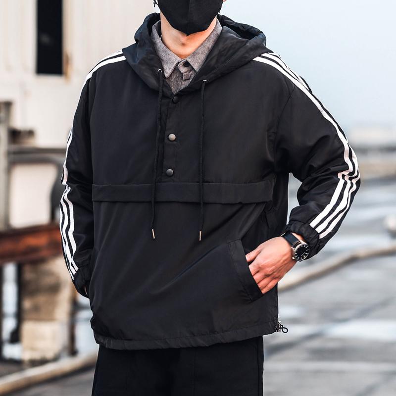 【高质量】连帽套头卫衣男2019新款外套