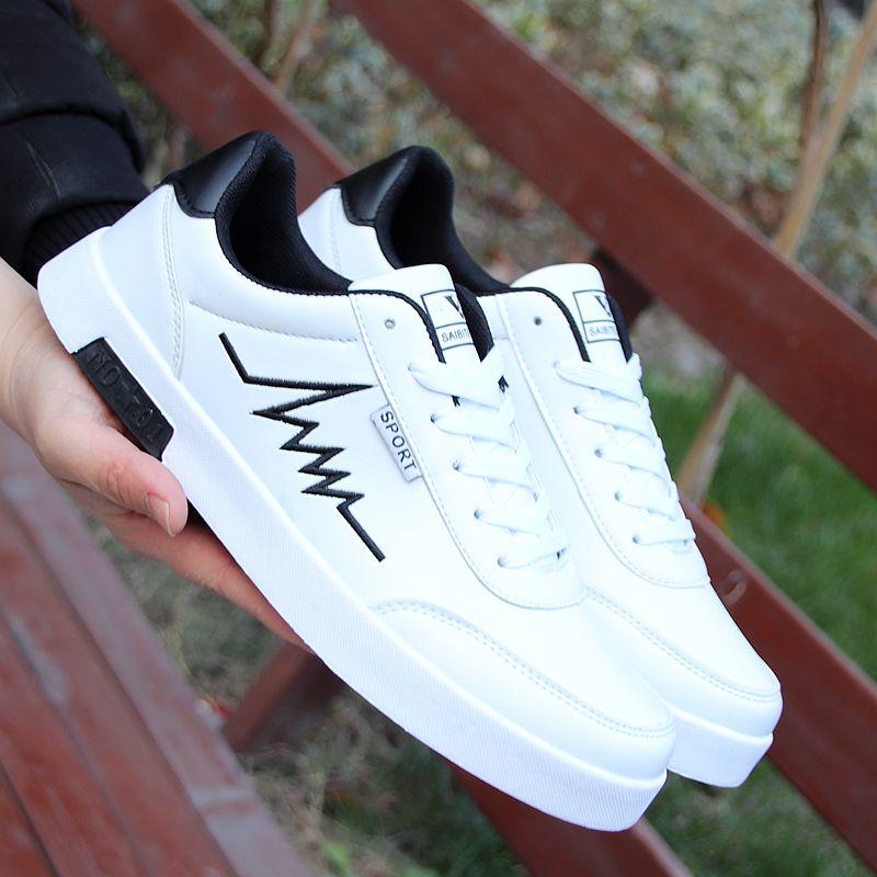男士小白鞋2019新款鞋子男百搭板鞋韩版运动休闲鞋内增高男鞋防滑