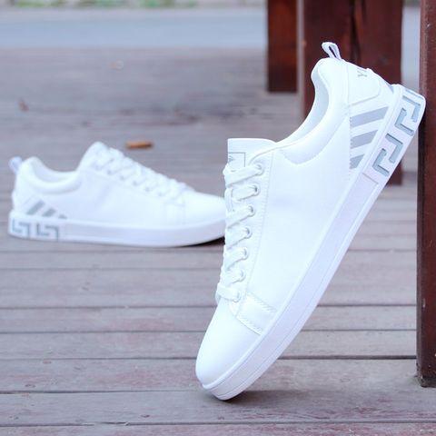 百搭潮鞋平板鞋秋小白鞋男士休闲白鞋运动板鞋白色韩版潮流男鞋子