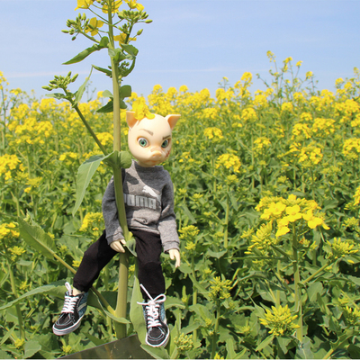 taobao agent 1/6bjd six points blythe small cloth Yamaguchi style Hudi tide brand baby clothes casual long-sleeved sweater