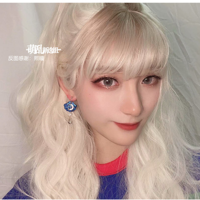 taobao agent Showa doll + sheep fat white Japanese lo milk white rice white Halloween curly hair wig lolita fake hair cos female