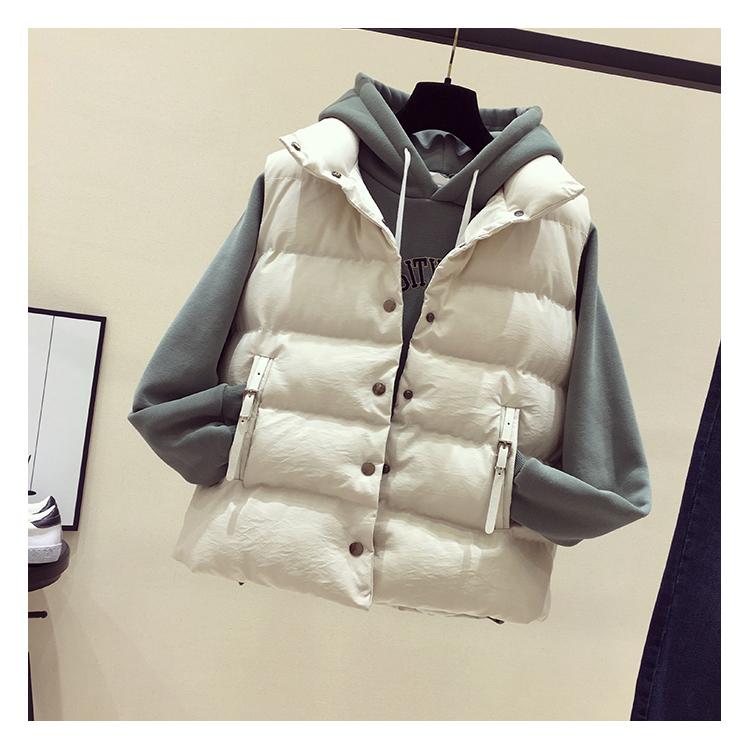 Xuống cotton vest nữ mùa thu và mùa đông 2017 mới không tay cotton vest vai đứng ngắn vest cotton vest