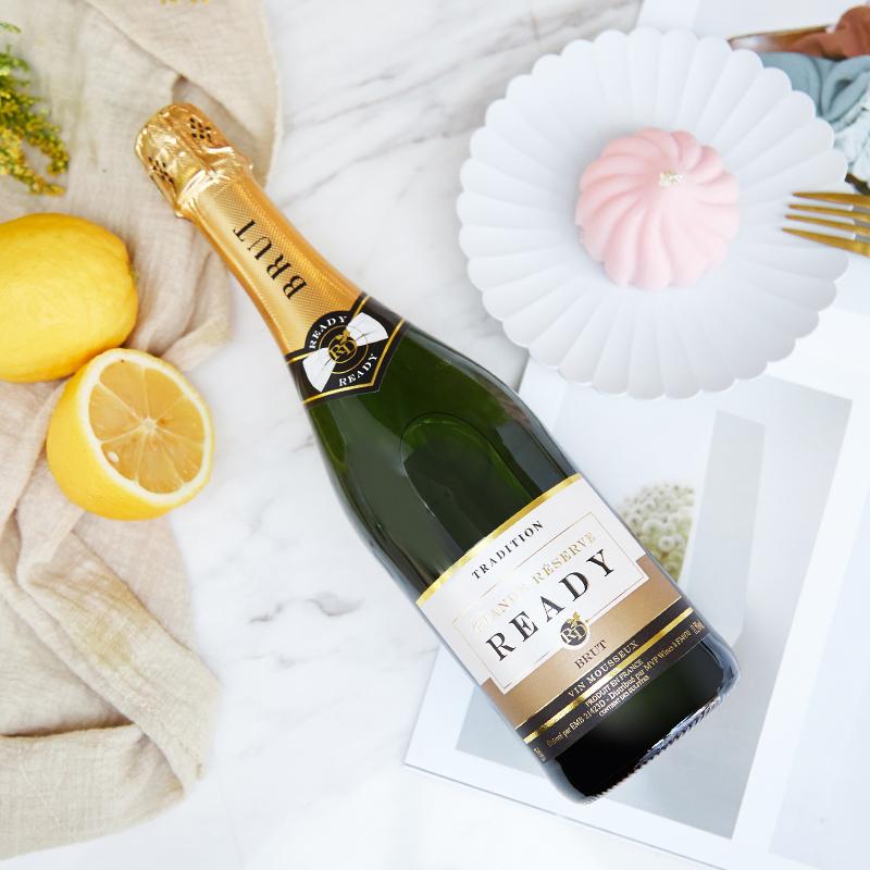 清新怡人 法国进口经典香槟起泡酒葡萄酒活动派对 送礼袋 750ml