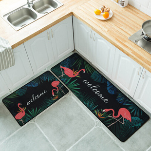 厨房地垫长条ins风防滑吸水吸油门垫脚垫