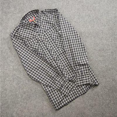 Thời trang giản dị lỏng mỏng nam dài tay áo mùa xuân và mùa hè mô hình trung niên kích thước lớn đôi xu hướng túi kẻ sọc áo sơ mi áo khoác sơ mi nam Áo