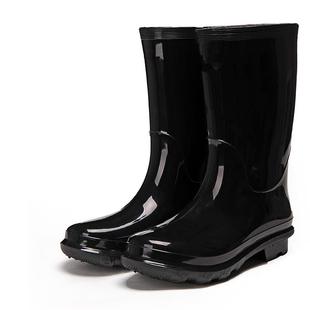 ✅正力牌®男中高筒雨鞋加活动棉套