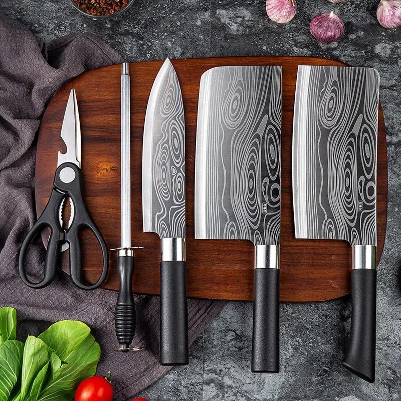 厨房菜刀全钢刀具套装家用厨房五件套
