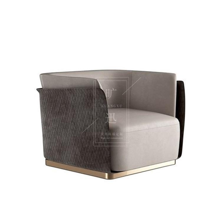 Италии порт стиль свет экстравагантный одноместный диван нордический простой после современный ткань диван дизайнер модель между диван