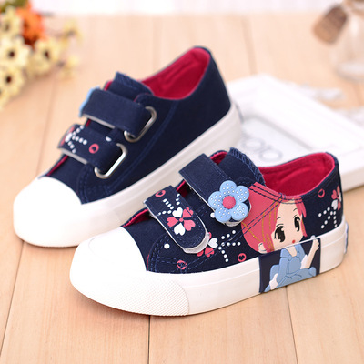 Children Girl 2017 Spring And Autumn Canvas Shoes