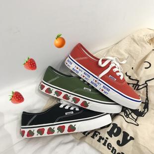 【小红书强烈推荐】ins超火小草莓帆布鞋