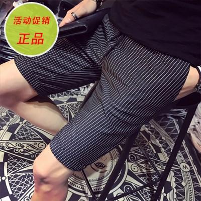 夏季男士条纹短裤男英伦潮流5分西裤休闲中裤子韩版学生五分裤衩