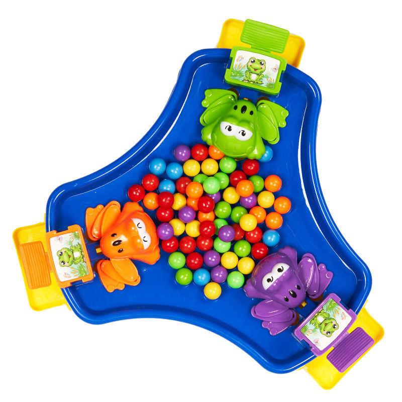 青蛙吃豆男女孩子亲子互动双人玩具多人桌面益智游戏儿童节日礼物