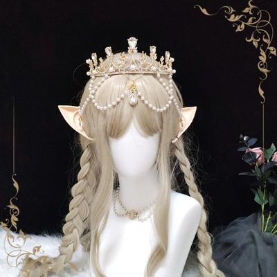 taobao agent Lolita Crown Original Design Hair Crown Lolita Rhinestone Headdress Bridal Alloy Super Fairy Rhinestone Hair Accessories Tiara