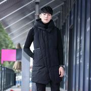 Mùa thu và mùa đông xuống cotton vest nam Hàn Quốc phiên bản của triều Slim bánh mì quần áo dày trùm đầu thanh niên vest vest jacket