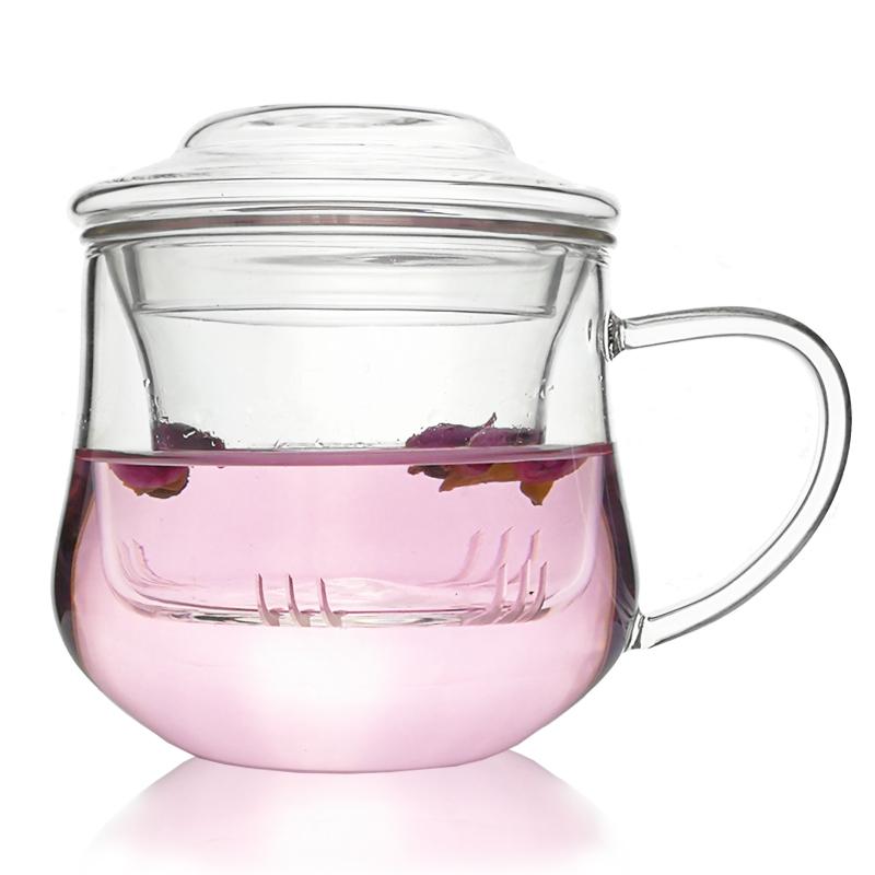 加厚玻璃杯耐热过滤泡茶带盖优惠价3元销量218件