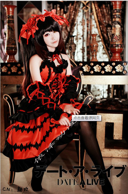 taobao agent Special spot date battle DATE A LIVE Tokisaki Kuangsan cosplay costume to send socks