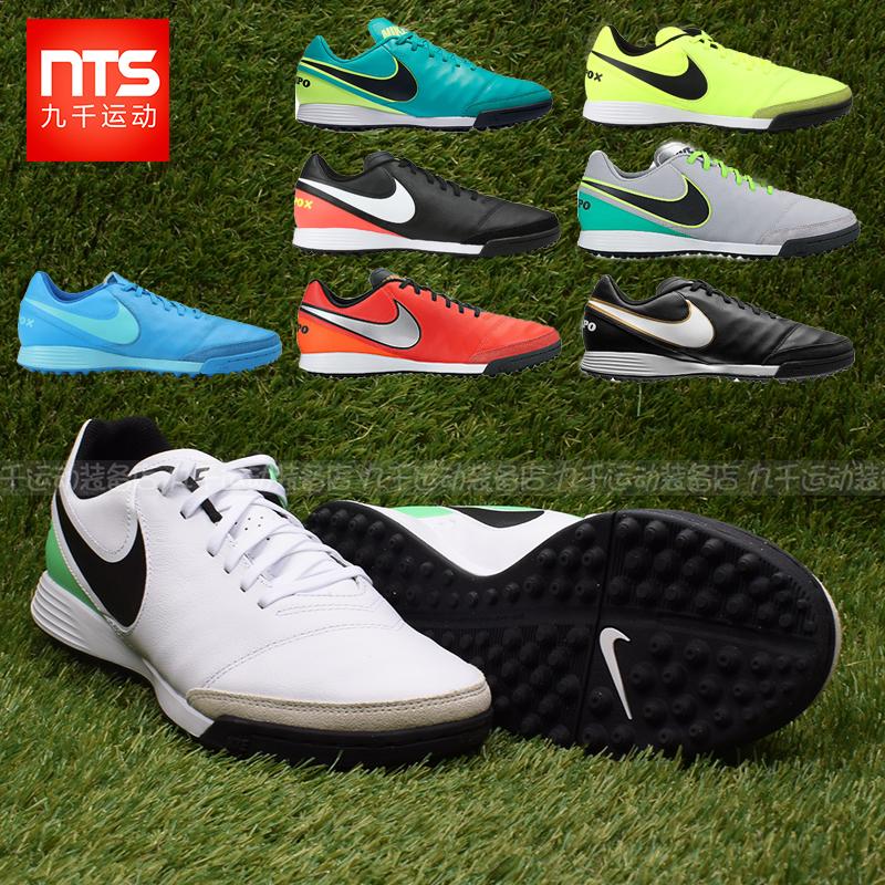 9000 chính hãng Nike TIEMPO huyền thoại 6TF nam da bò nhân tạo cỏ bị hỏng móng tay giày bóng đá 819216-001