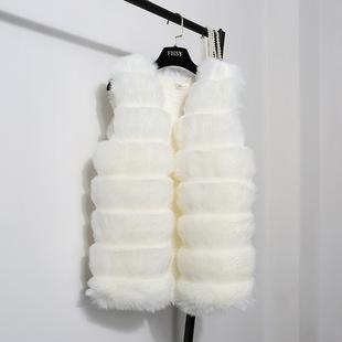 韩版狐狸毛马甲背心女外套