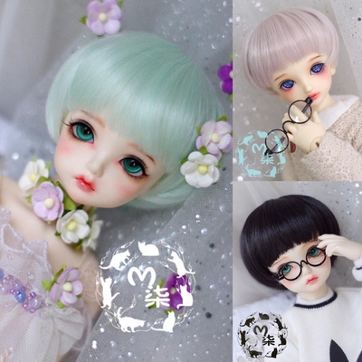 taobao agent Miao Qi BJD baby with wig high temperature silk mushroom head short hair 8 points 4 points giant baby 3 points uncle multicolor