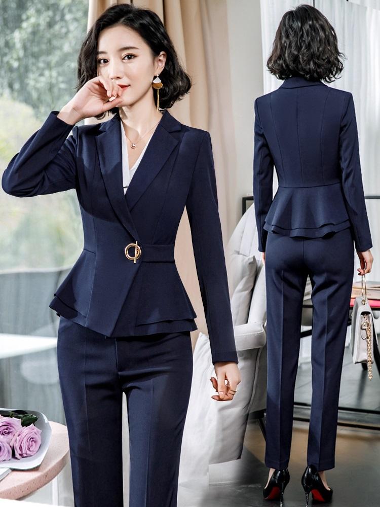 职业装西装套装女士名媛小香风气质干练韩版时尚女神范正装工作服