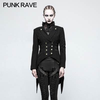 taobao agent PUNK RAVE punk state women's gothic steampunk tuxedo jacket unisex handsome magician