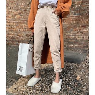 【滕雨佳】灯芯绒裤子女直筒休闲裤