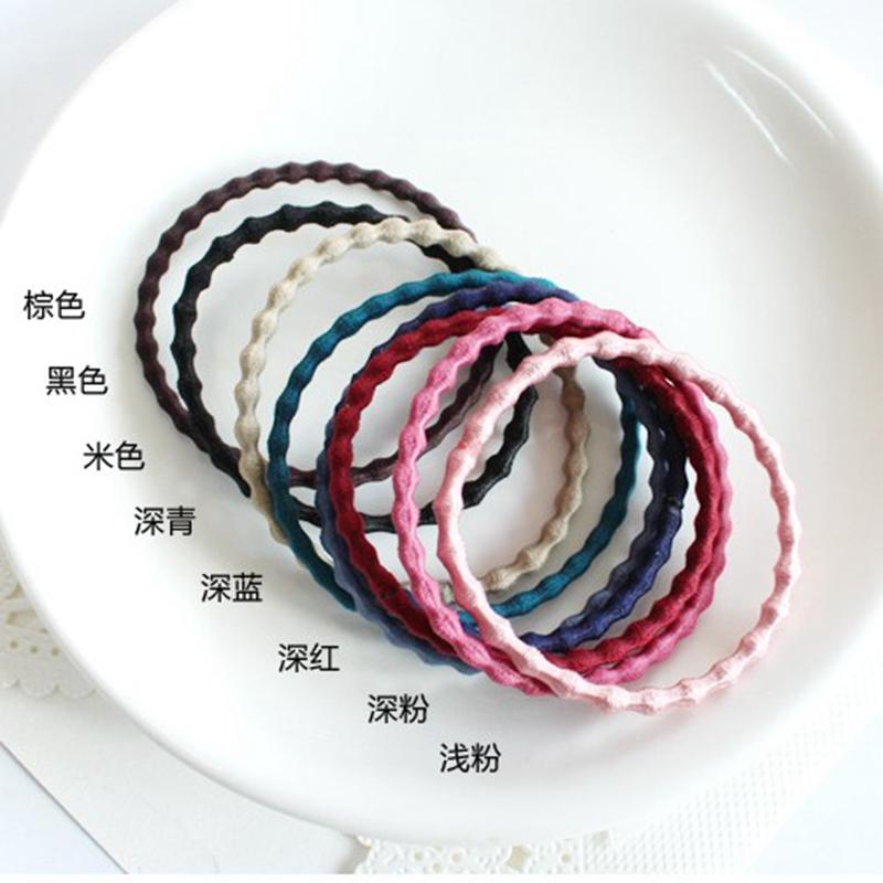 韩国kknekki 新款小泡泡发绳 弹力发圈 多色打底皮筋