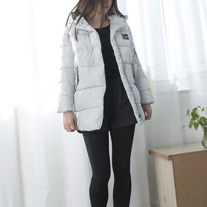 12282 mùa đông mới của phụ nữ trùm đầu cao đẳng phong cách Hàn Quốc phiên bản của đơn giản hoang dã bánh mì bông áo bông áo khoác Tháng Bảy 14