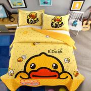Phim hoạt hình bông trải giường ba bộ hai mặt bông cộng với pha lê nhung tatami chần chăn tấm dày mảnh duy nhất