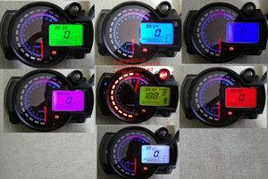 New 7 màu có thể điều chỉnh ss182 tốc độ 299 xe máy trần xe sửa đổi LCD meter 1-6 nhiệt độ nước đo dầu